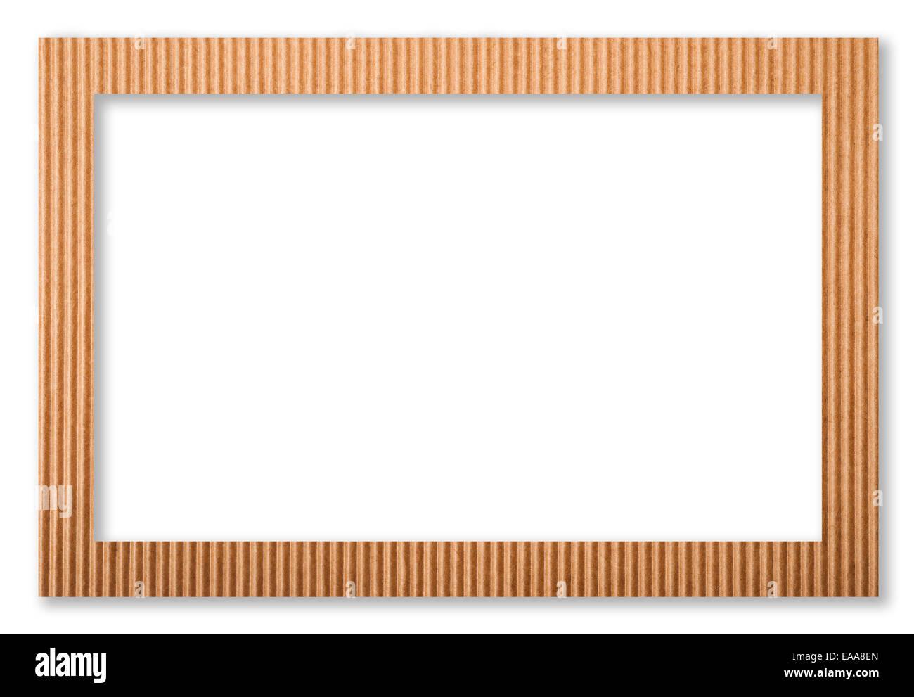 Papprahmen isoliert auf weiss Stockfoto, Bild: 75214237 - Alamy