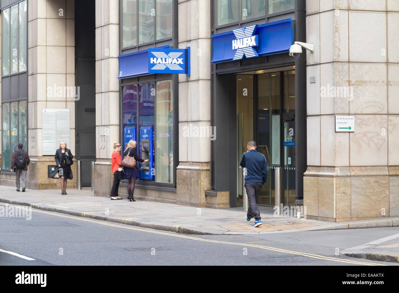 Halifax Bank Branch, London, UK Stockbild