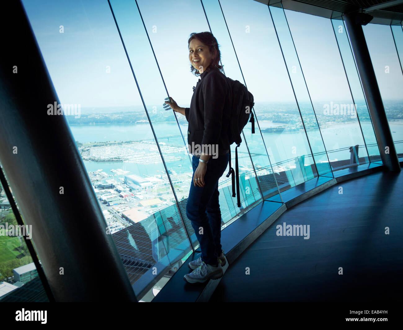 Mr No scheinbare Fotografie oder PR Beschränkungen der Skytower Website oder Ticket. Stockfoto