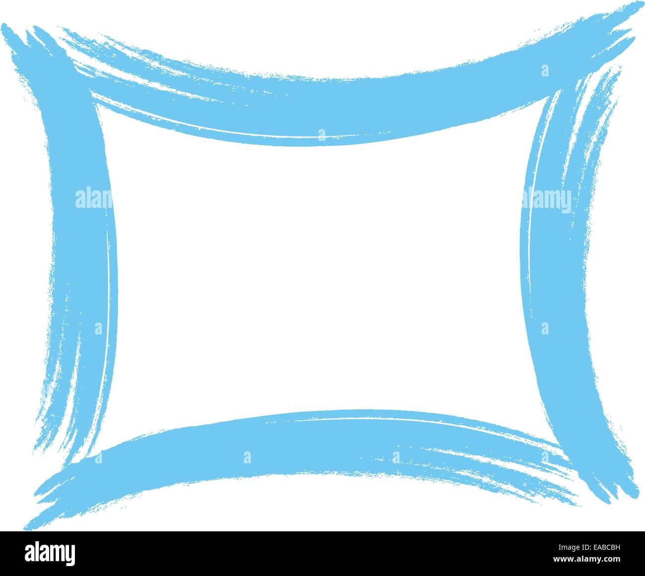 Pinsel malen Malerei blauen Rahmen Schlaganfall Kunst Kunst Pinsel ...