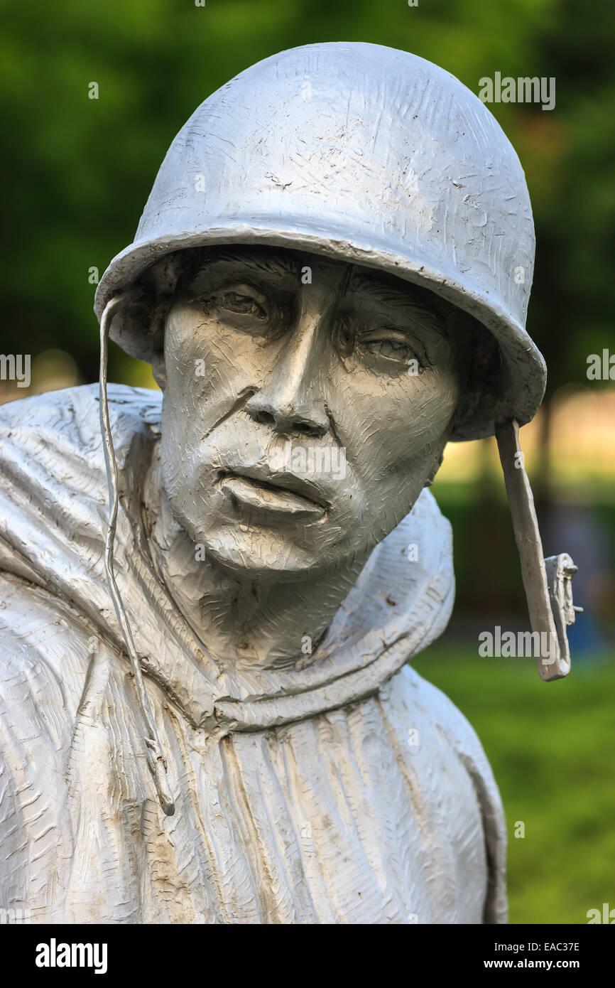 Das Korean War Veterans Memorial befindet sich in Washington, D.C. West Potomac Park, südöstlich des Lincoln Stockbild