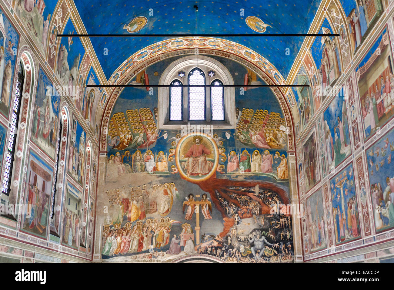 Die Scrovegni-Kapelle - Cappella Degli Scrovegni, Padua, Veneto, Italien Stockfoto