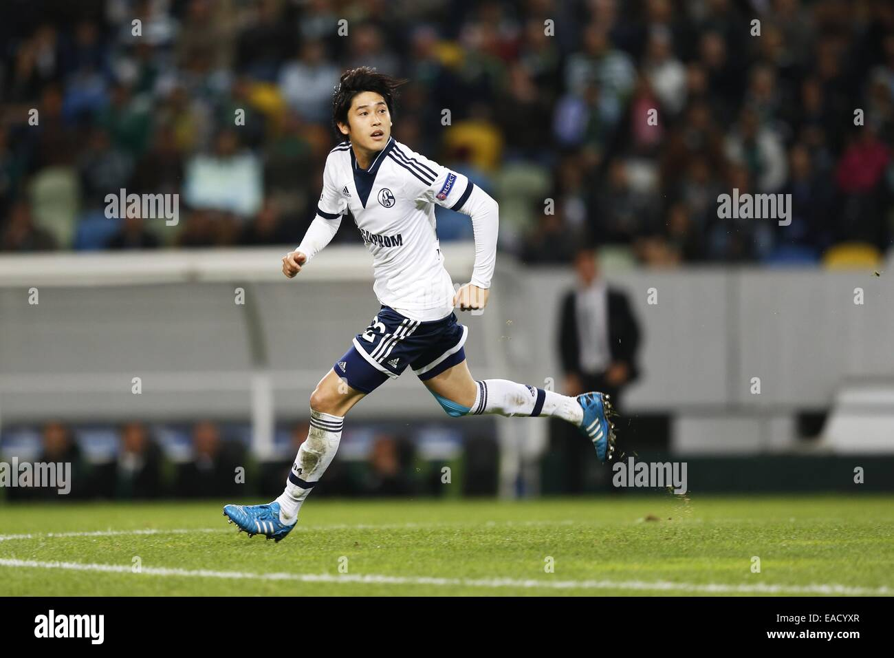 Lissabon, Portugal. 5. November 2014. Atsuto Uchida (Schalke) Fußball: UEFA Champions League-Gruppe G-match zwischen Stockfoto