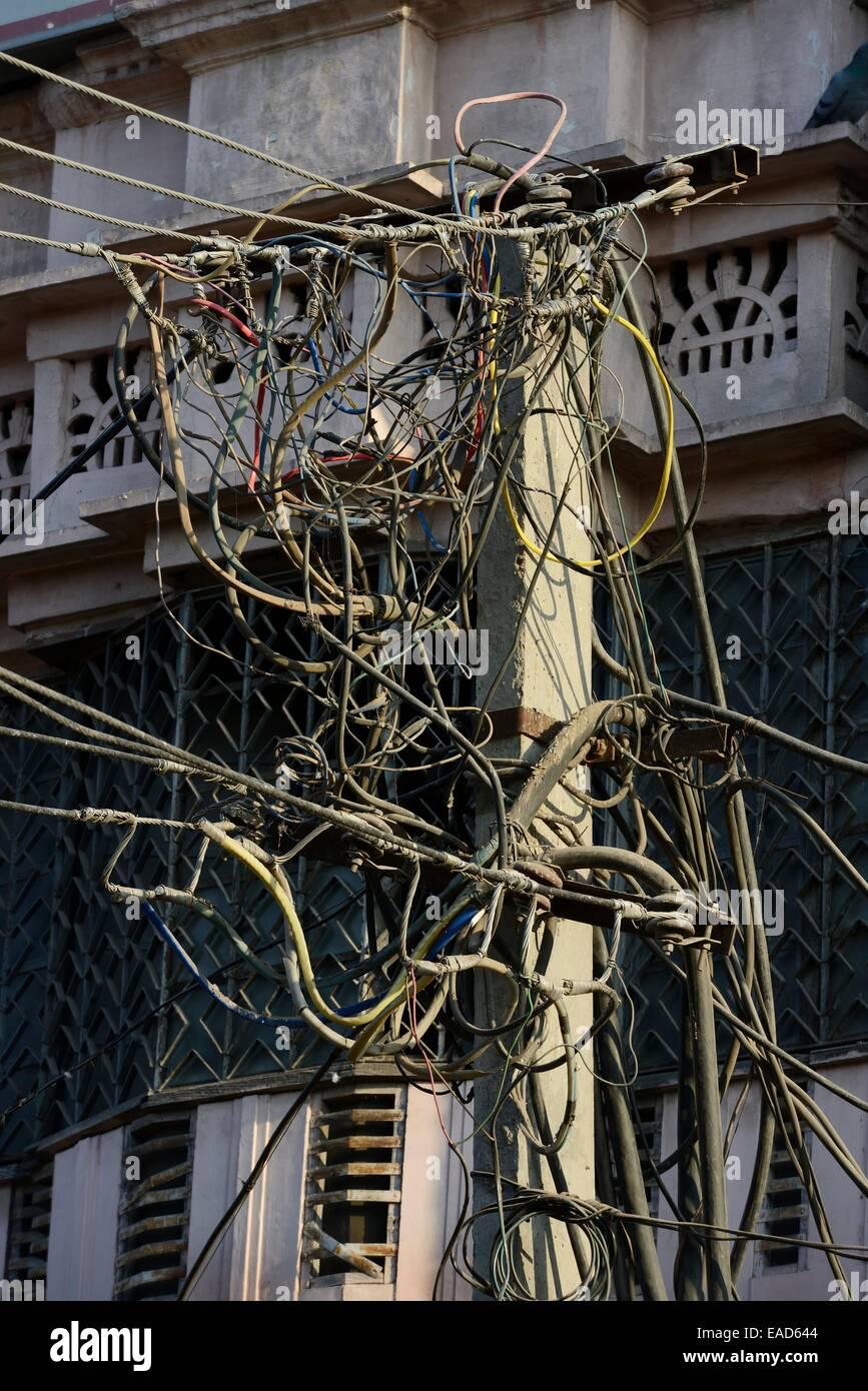 Asien, Indien, Rajasthan, Marwar, Bikaner, verworrenen Netz Stockbild