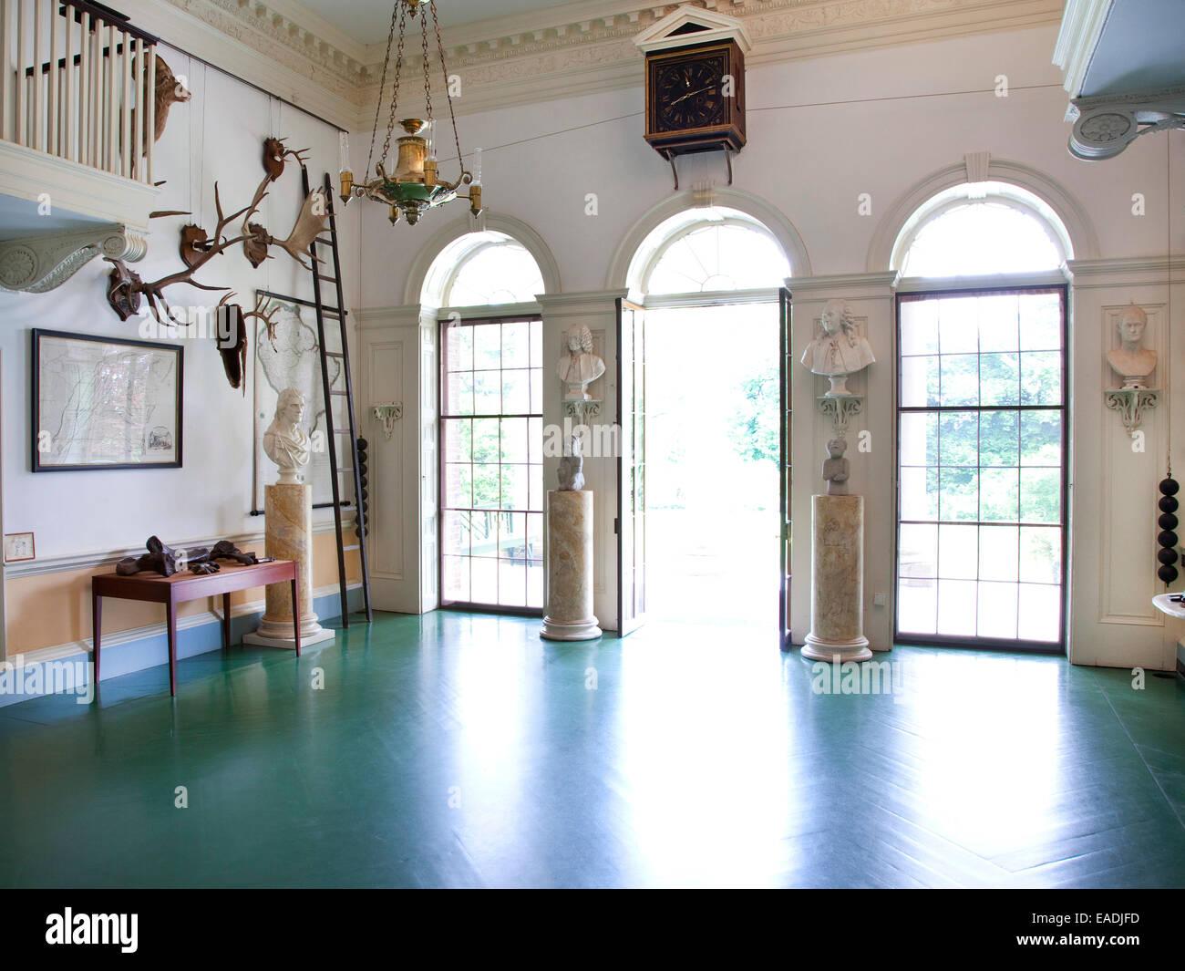 Eingang Haus Hall Von Jeffersons Monticello. Stockbild