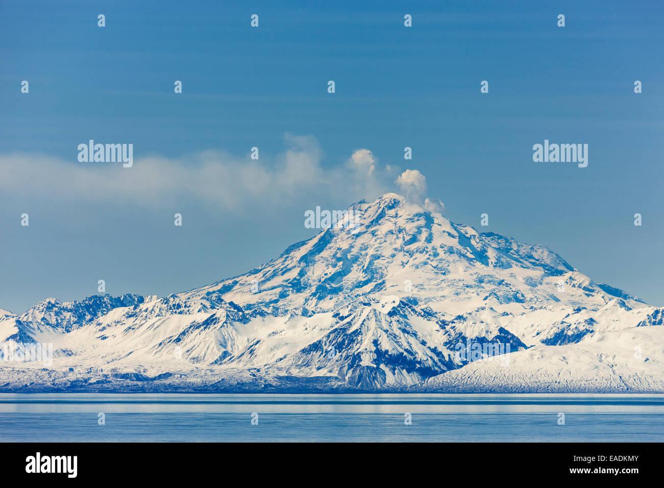 Alaska, aktiven Vulkan Mount Redoubt Vulkan Stockbild