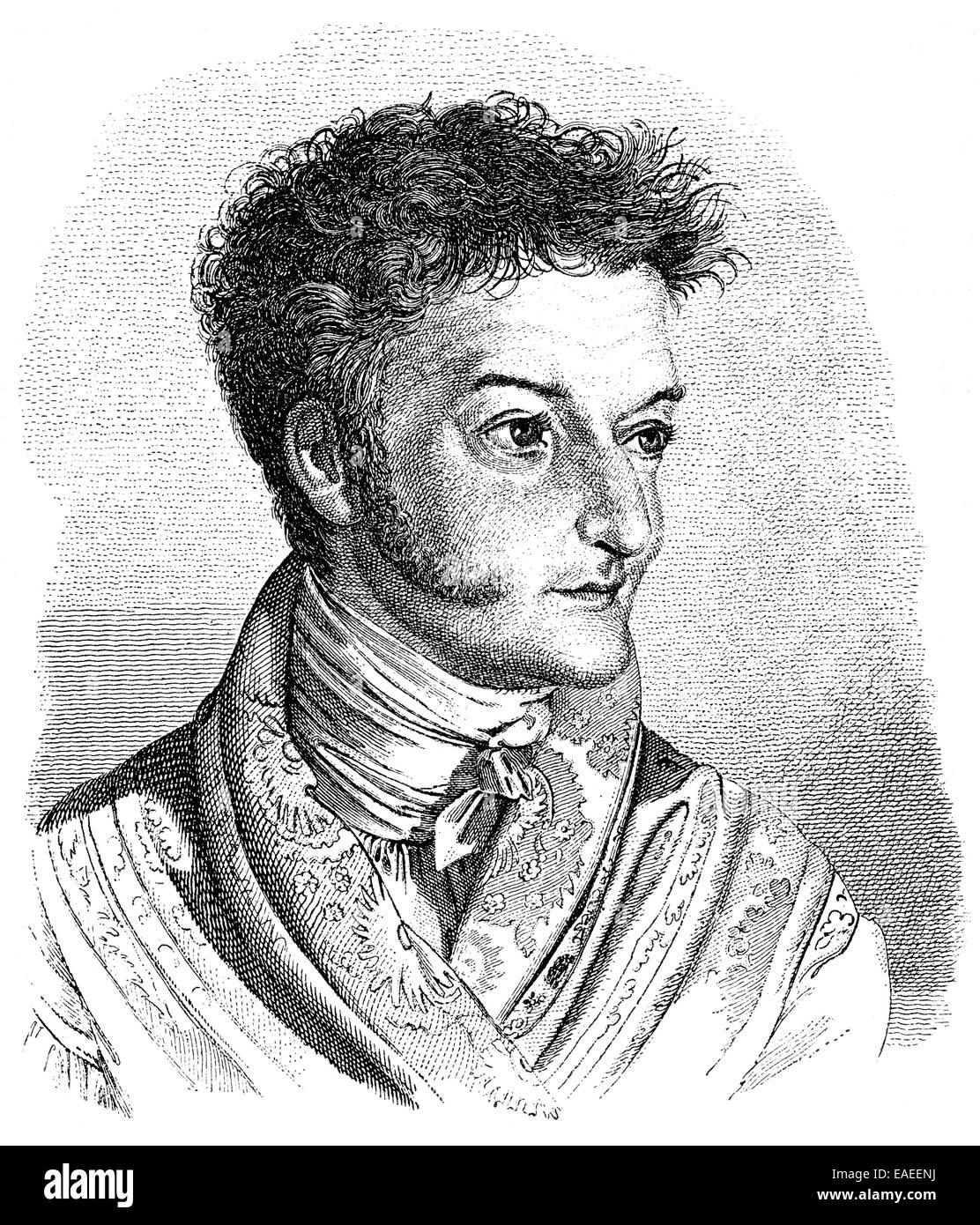 Ernst Theodor Amadeus Hoffmann oder E. T. A. Hoffmann, 1776-1822, eine deutsche romantische Autor von Fantasy und Stockbild
