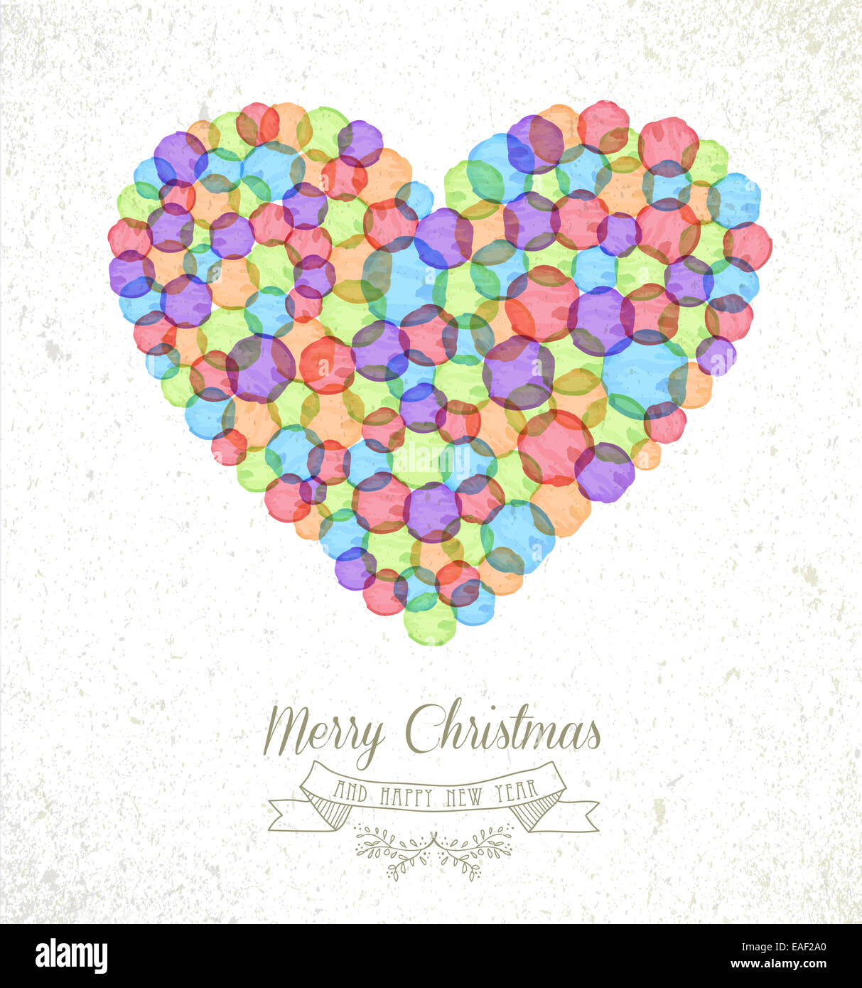 Weihnachten Bilder Bearbeiten.Frohe Weihnachten Aquarell Flecken Liebe Herz Form Grußkarte