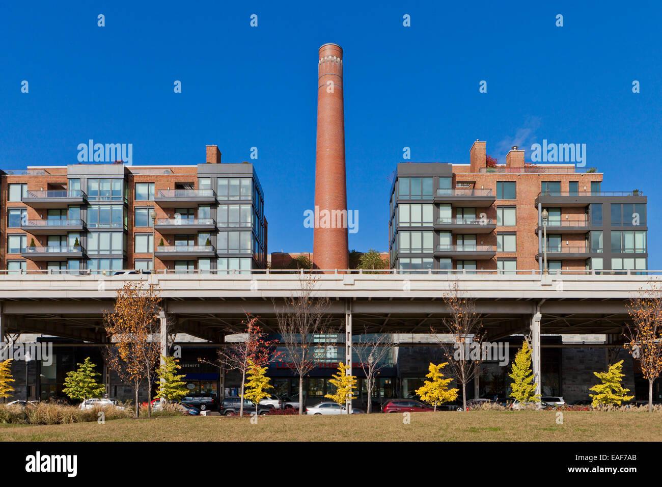 Georgetown Ritz-Carlton Hotel Schornstein - Washington, DC USA Stockbild