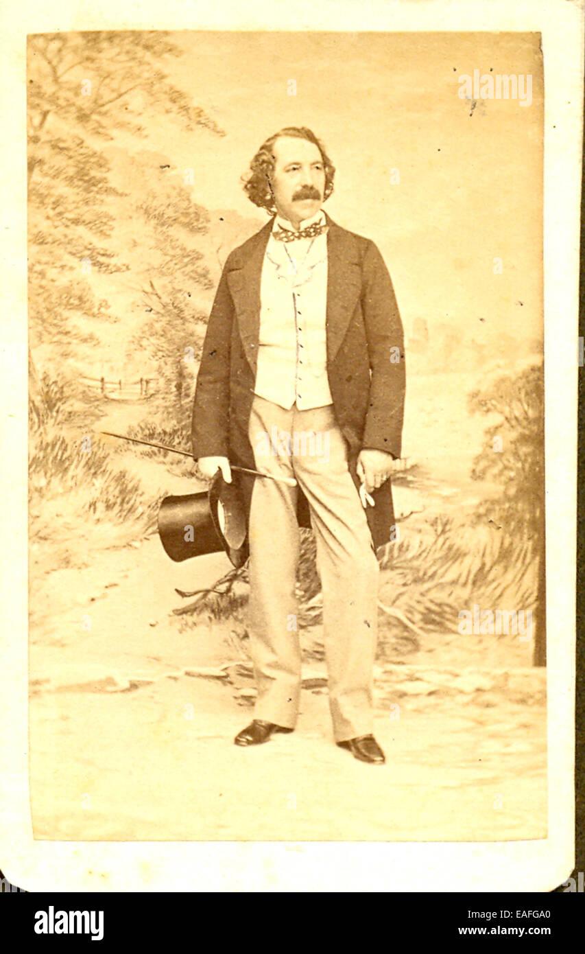 Carte De Visite Portrat Von Sims Reeves Stockbild