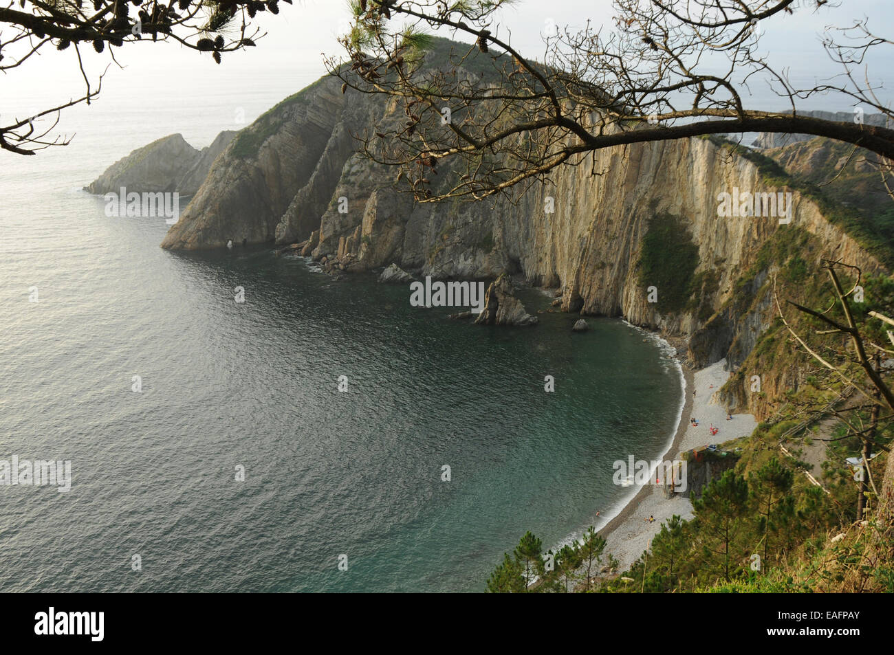 Playa del Silencio, Asturias, España. Stockbild