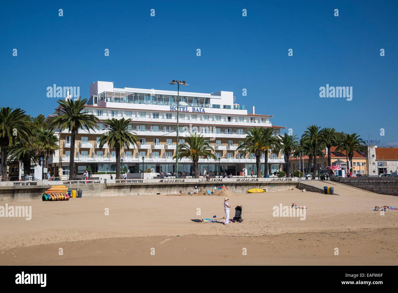 Hotel Baia Cascais : Ribera strand und hotel baia cascais lissabon portugal stockfoto