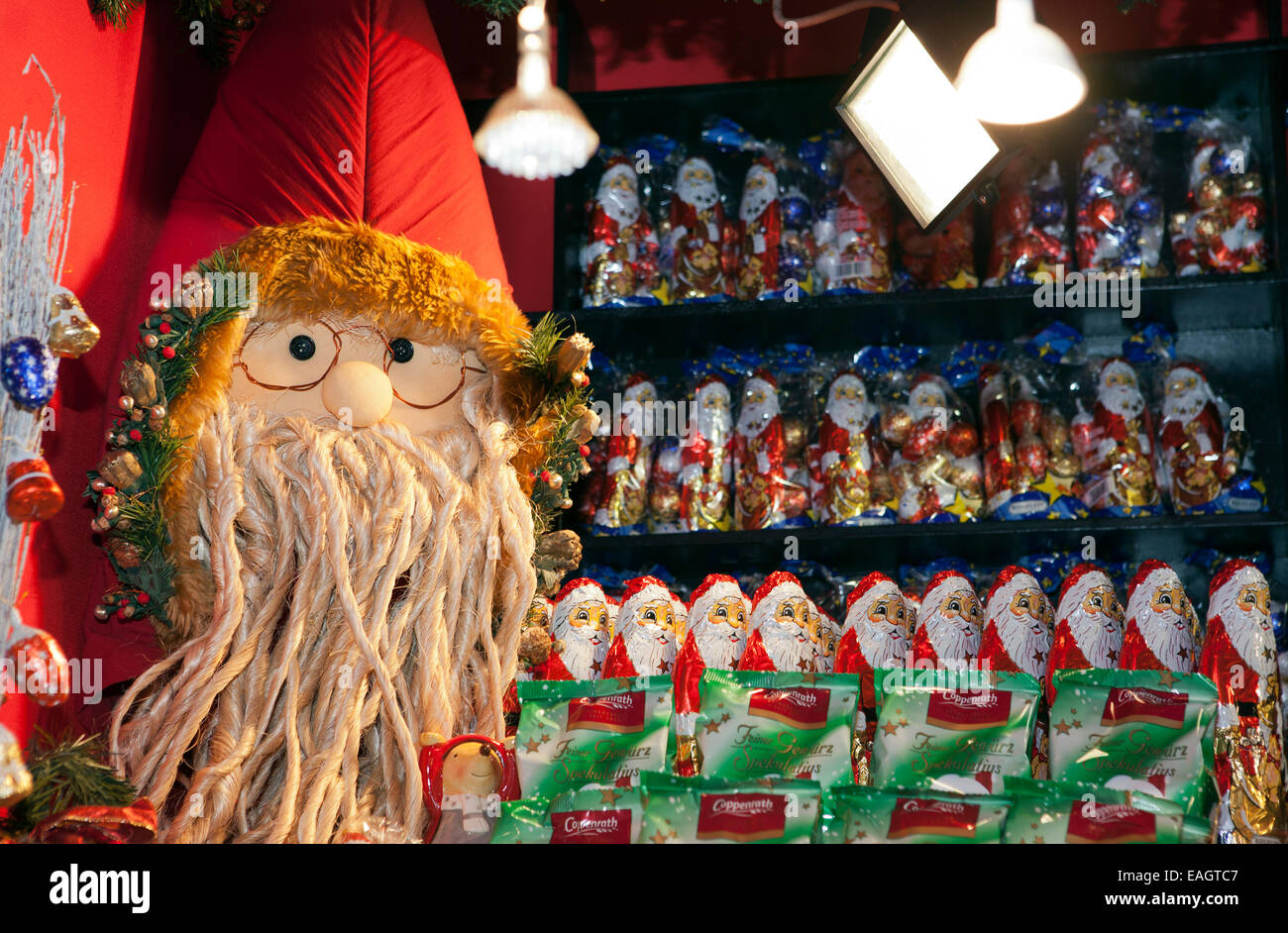 Deutsche Süßigkeiten oder süße Süßwaren Stall bei Manchester ...