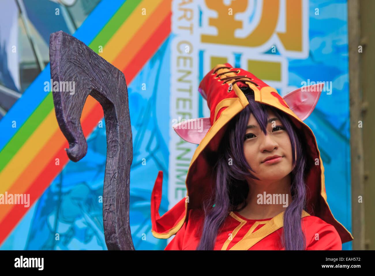 Cosplayer am Pier 2 Kunstzentrum Anime Festival, Kaohsiung Stockbild
