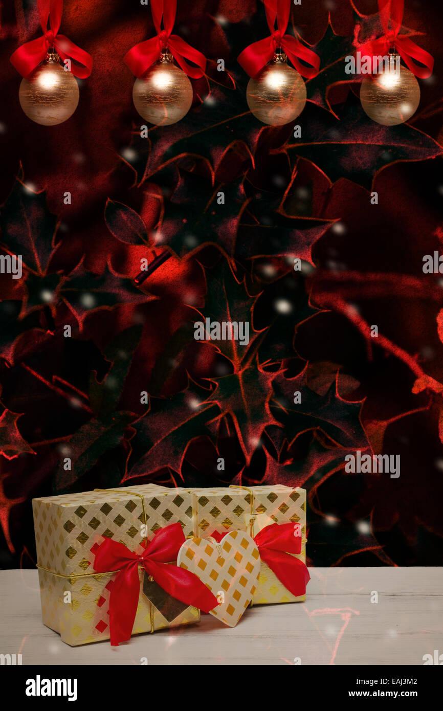 Adventszeit oder weihnachtskarte mit festlichen hintergrund und exemplar