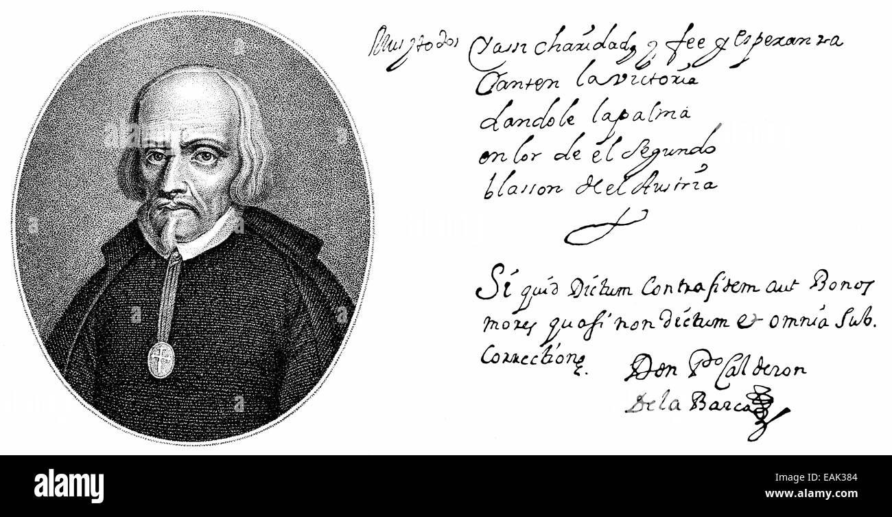 Portrait Von Pedro Calderón De La Barca Oder Pedro Calderón De La