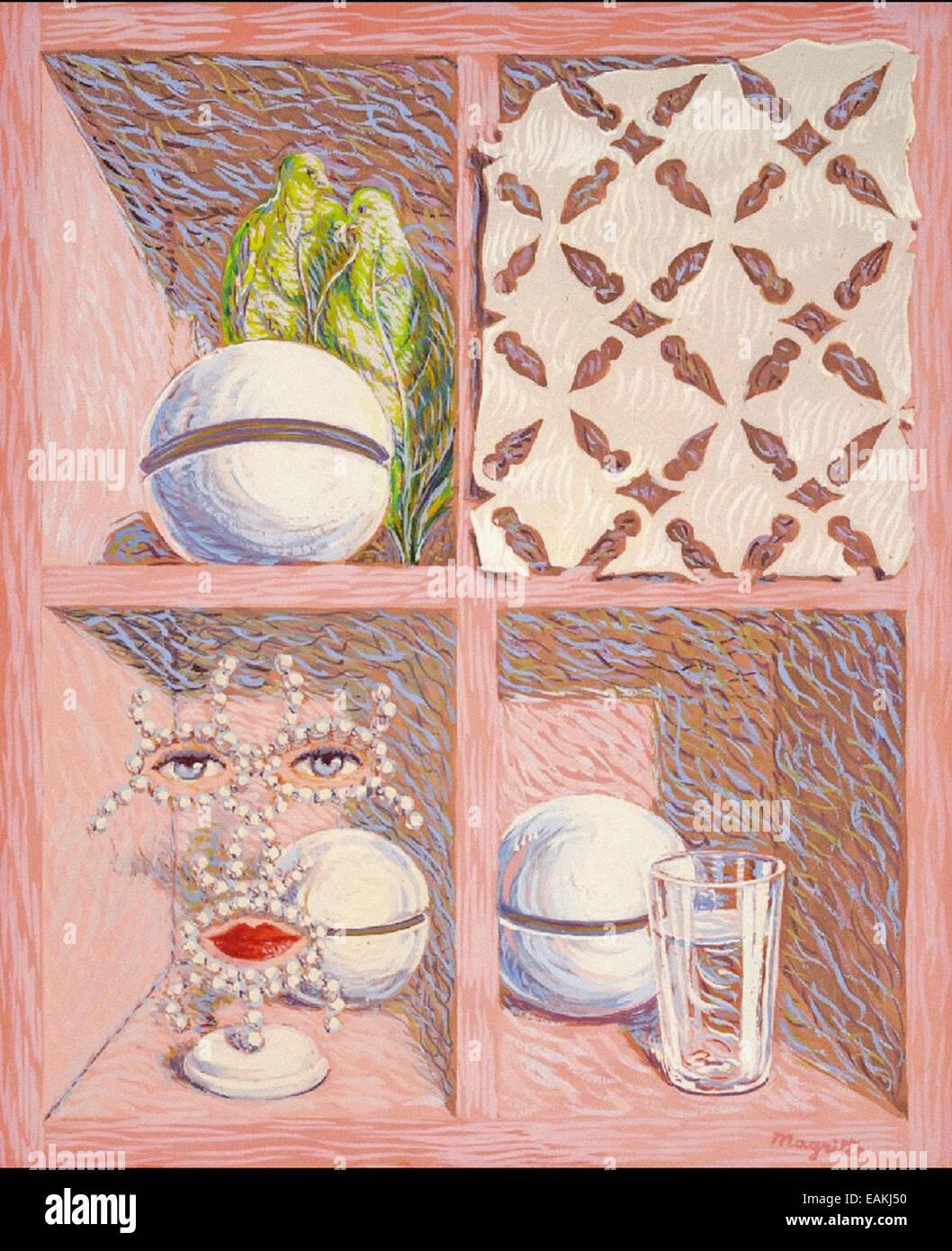 René Magritte Un Siècle de Geduld Stockbild