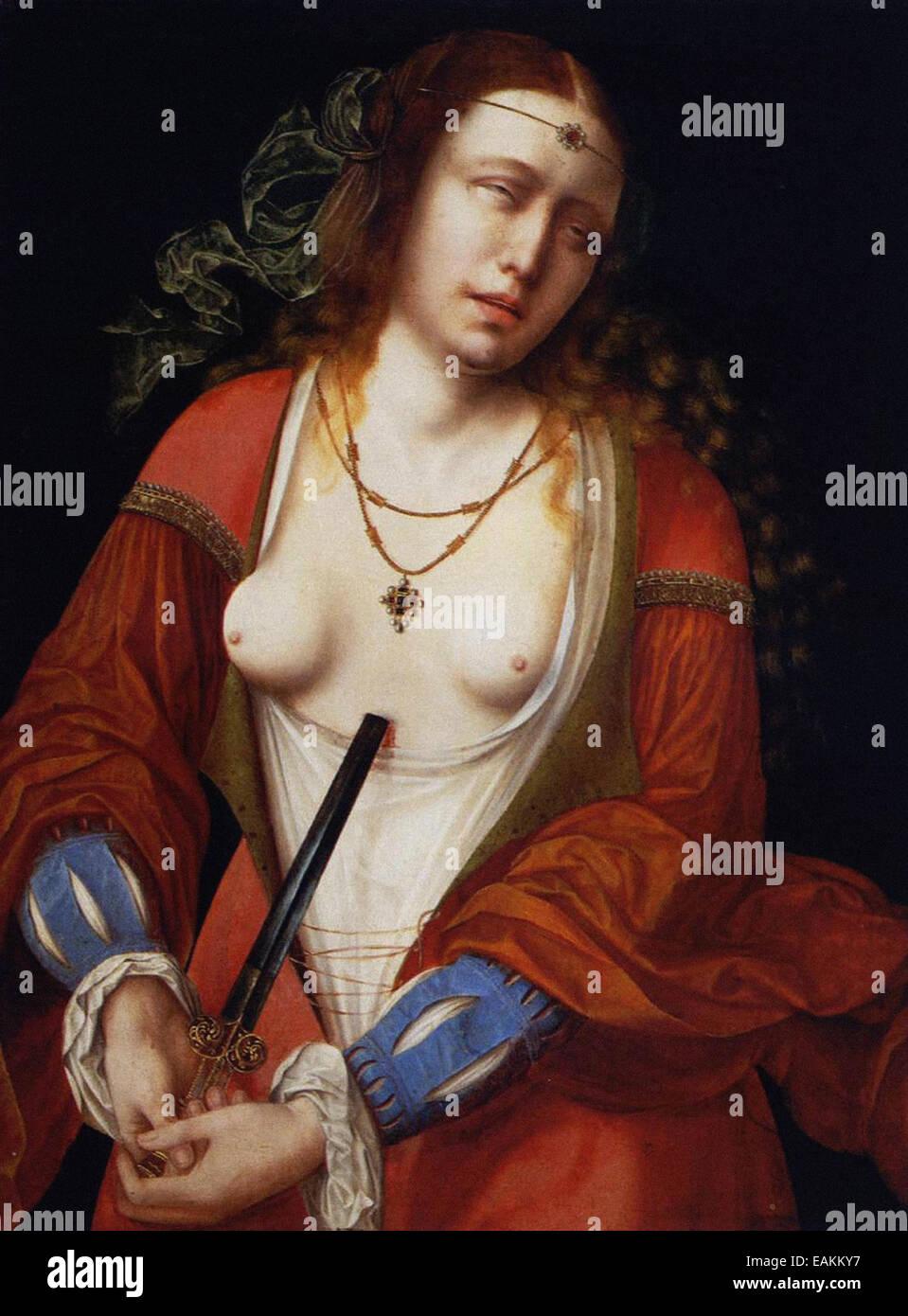 Meister der Heilig-Blut-Lucretia Stockbild