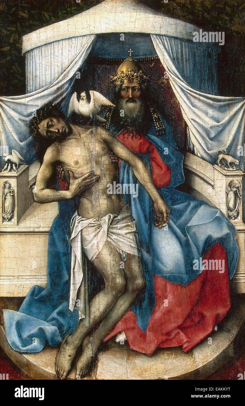 Meister von Flémalle Heilige Dreifaltigkeit Stockbild