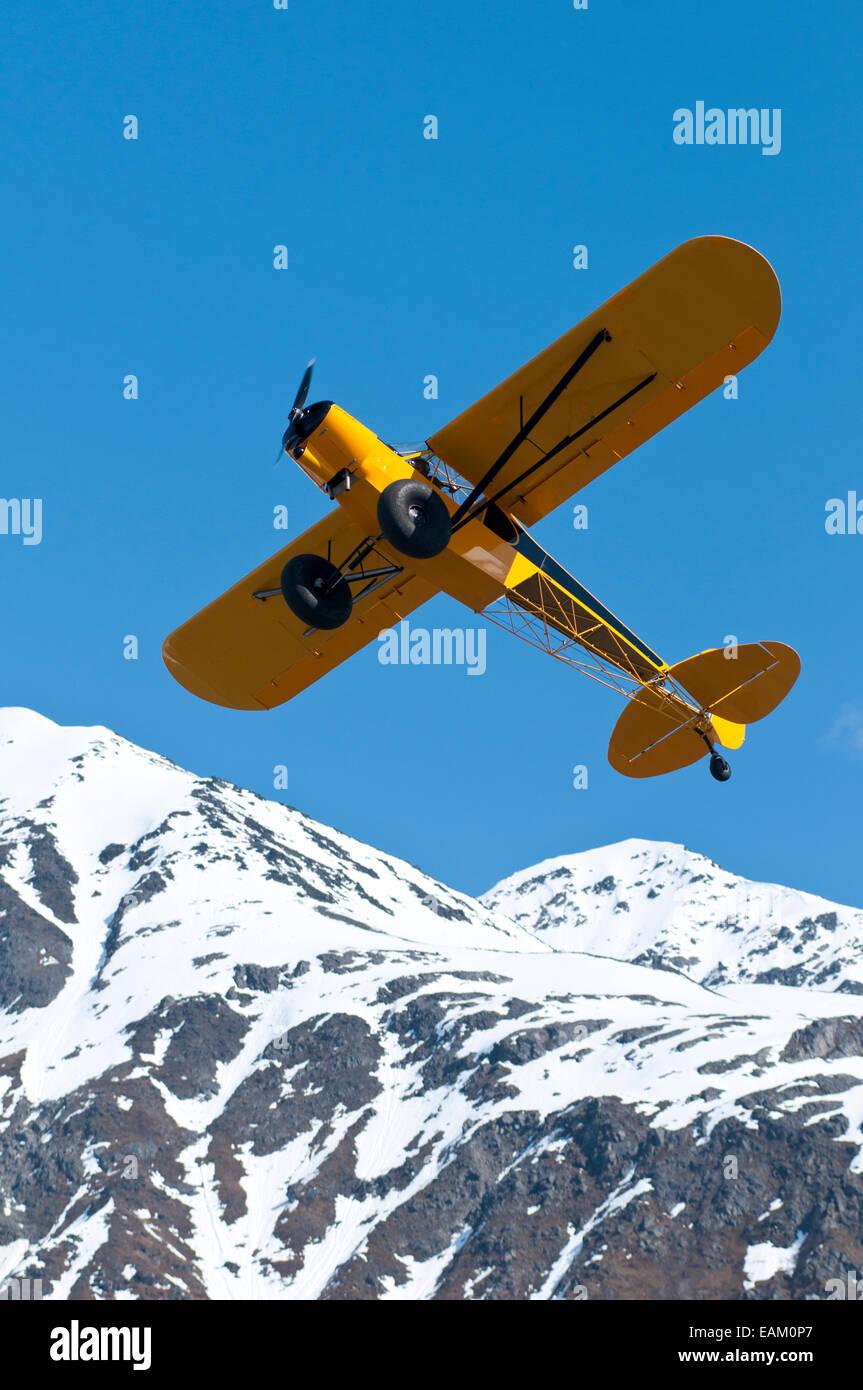 Flugzeug, Alaska, blauer Himmel, Bushplane Stockbild