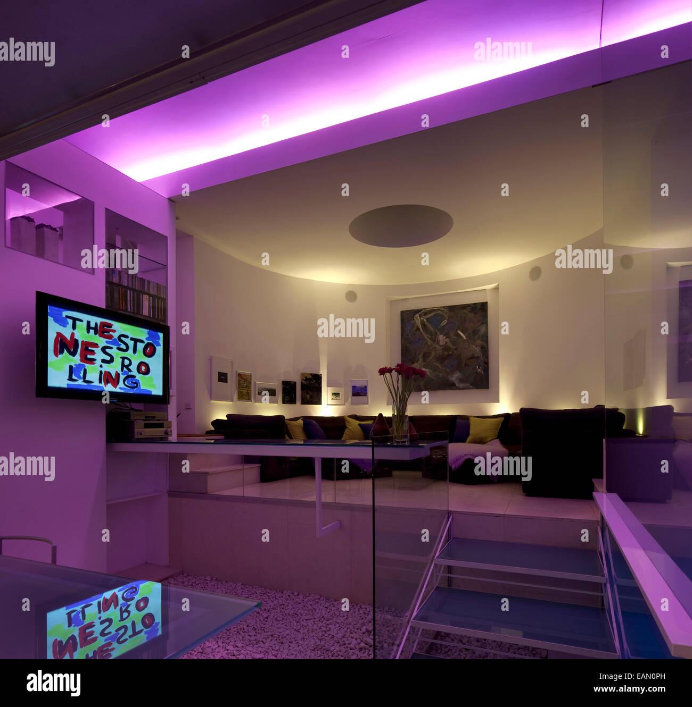 Treppen von Küche, Sitzecke, Lavendel Haus, Hampstead, London ...