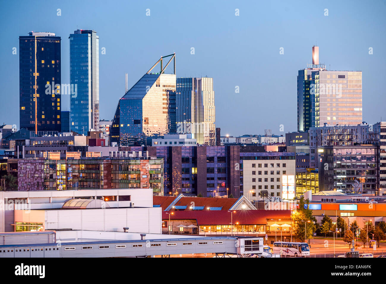 Tallinn, Estland-New City-Skyline. Stockbild