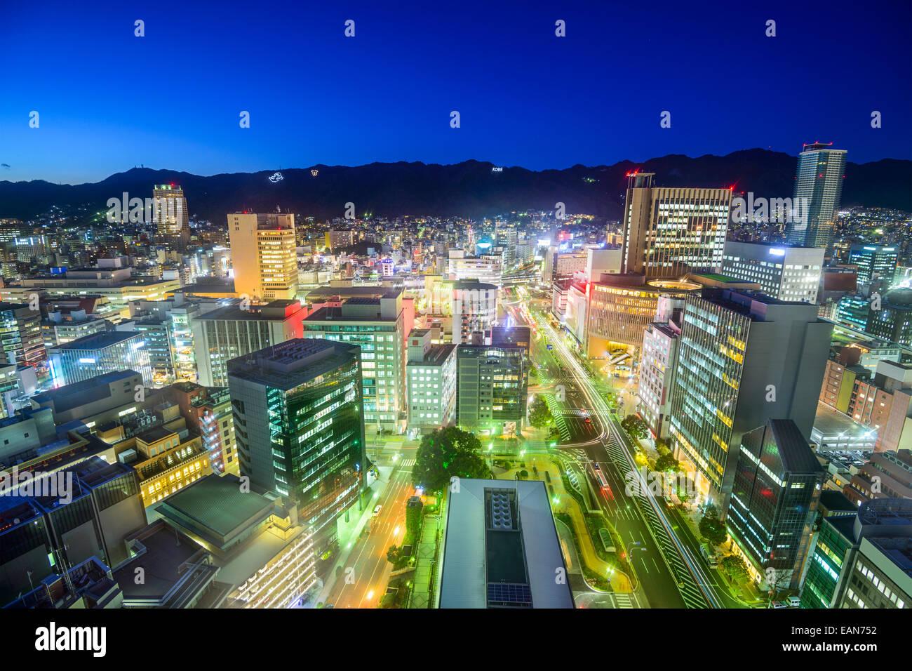 Kobe, Japan Stadt Skyline im Stadtteil Sannomiya. Stockbild