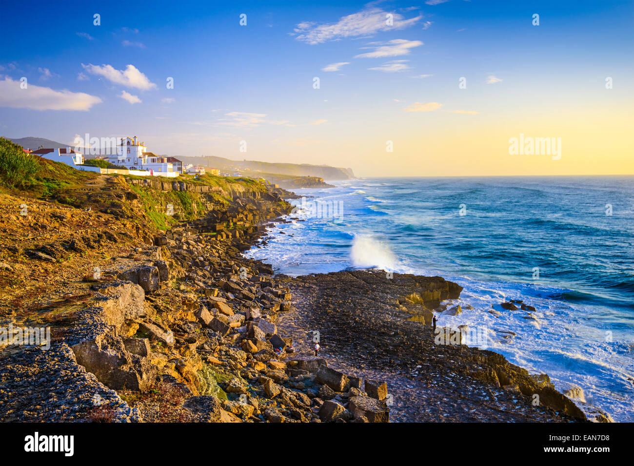 Sintra, Portugal Küste am Atlantischen Ozean. Stockbild