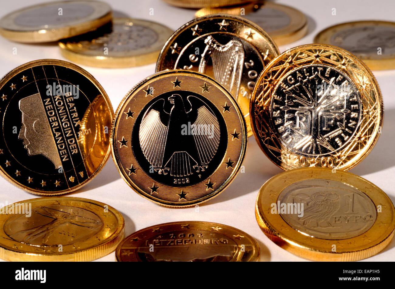 Euro Münzen Aus Verschiedenen Ländern Stockfoto Bild 75472241 Alamy