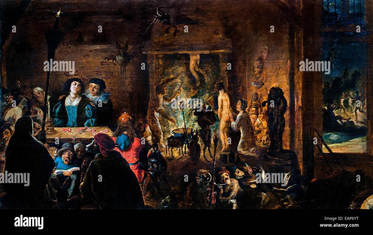 Eine Szene der Zauberei David Teniers der jüngere (1610-1690) flämischen Belgien Belgien Stockbild