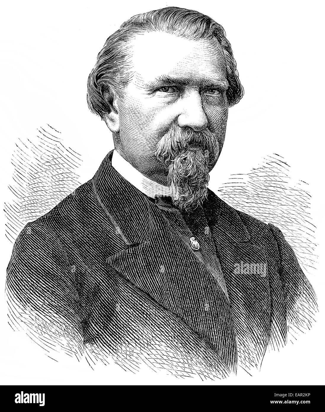 Friedrich Wilhelm Kuecken, 1810-1882, deutscher Musiker und Komponist der Romantik, Friedrich Wilhelm Kücken, Stockbild