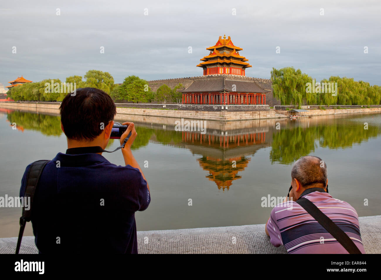 China, Verbotene Stadt, Tourismus, Urlaub, Pagode, Wasser, Fotografen, Buddhismus, Capital Cities, chinesische Kultur, Stockbild