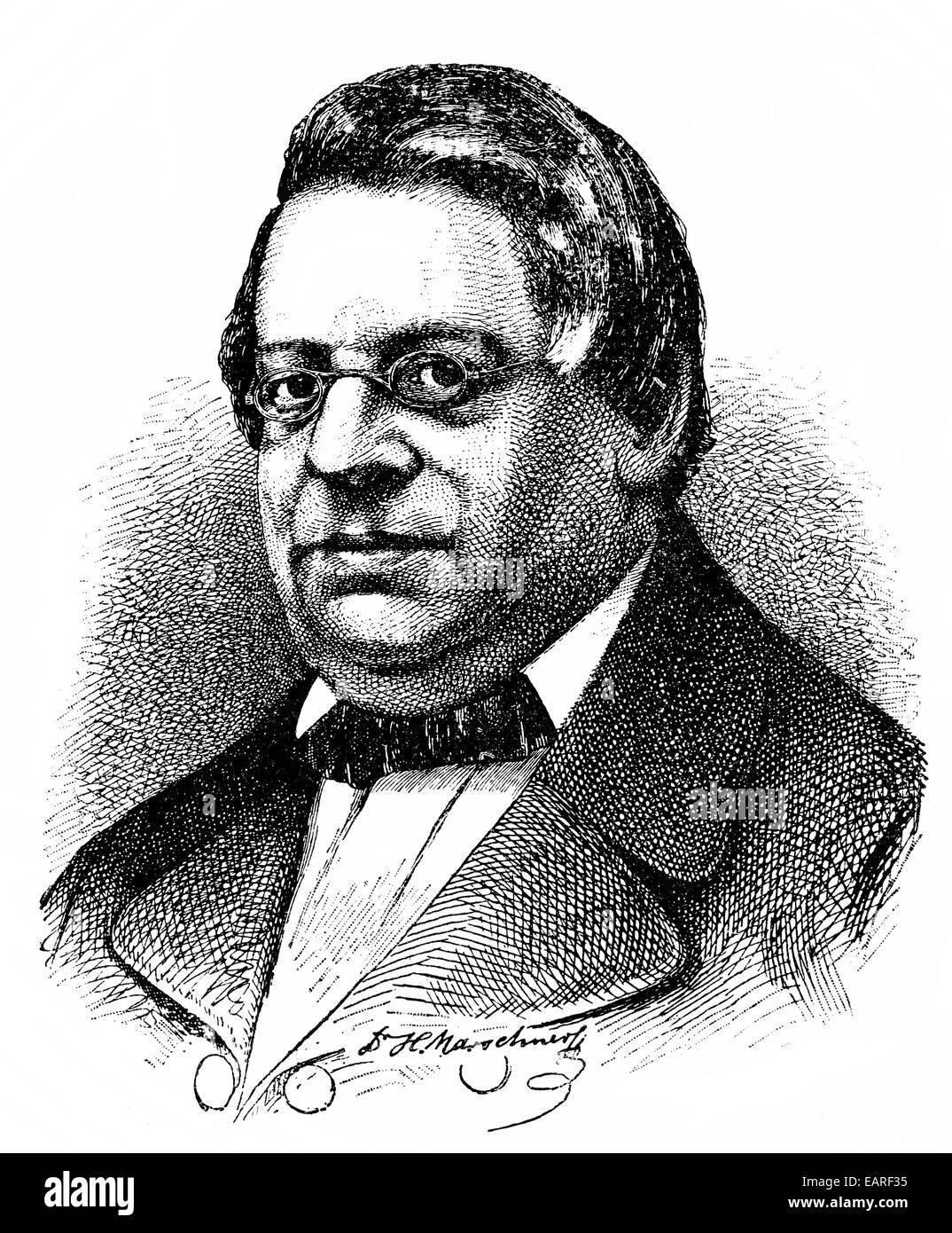 Heinrich August Marschner, 1795-1861, eine deutsche romantische Komponist und Dirigent, Porträt von Heinrich Stockbild