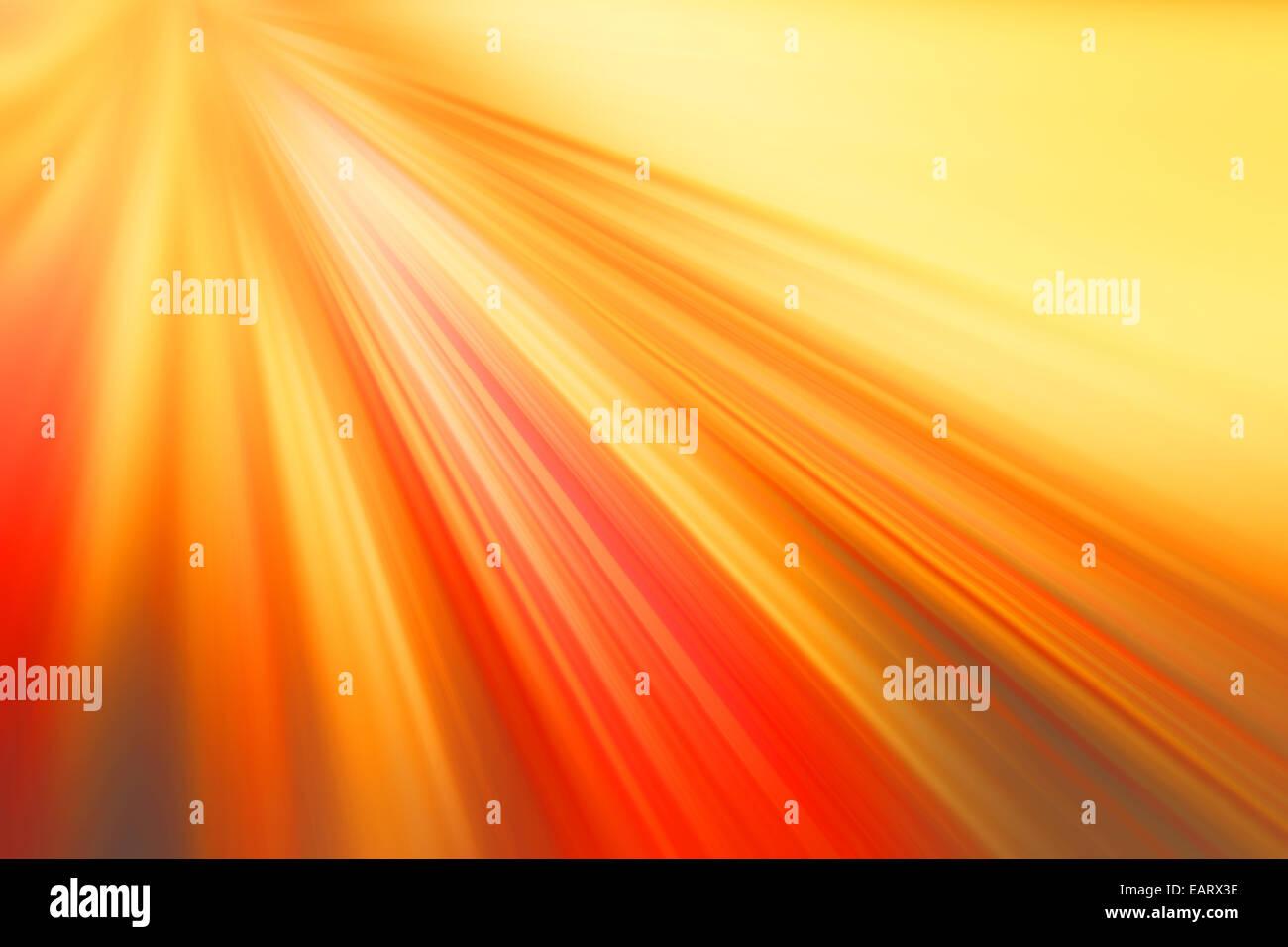 rot und orange Hintergrund, Lichtstrahlen Stockbild