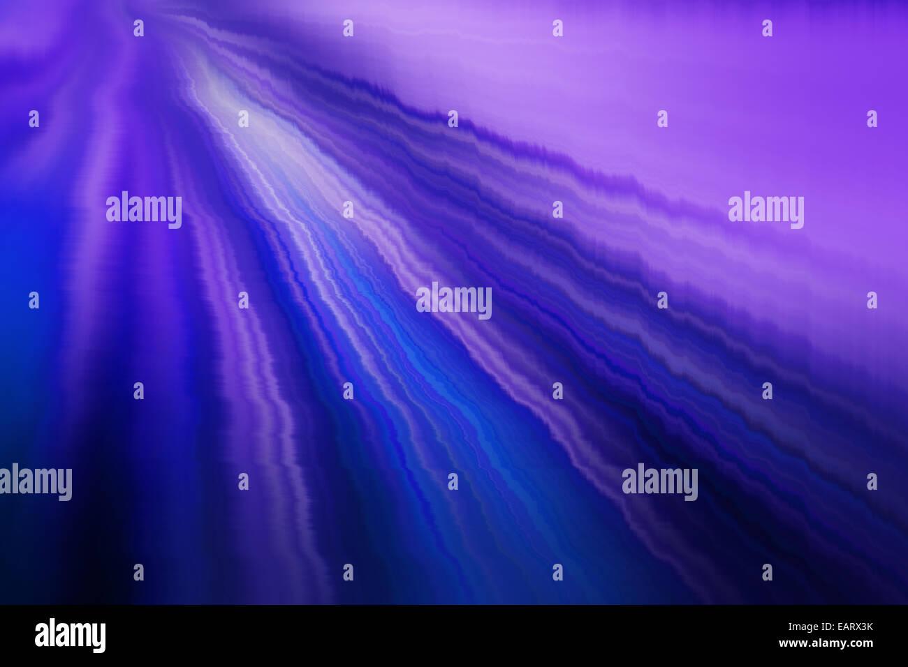 elektronische Wellen in blau und violett Stockbild