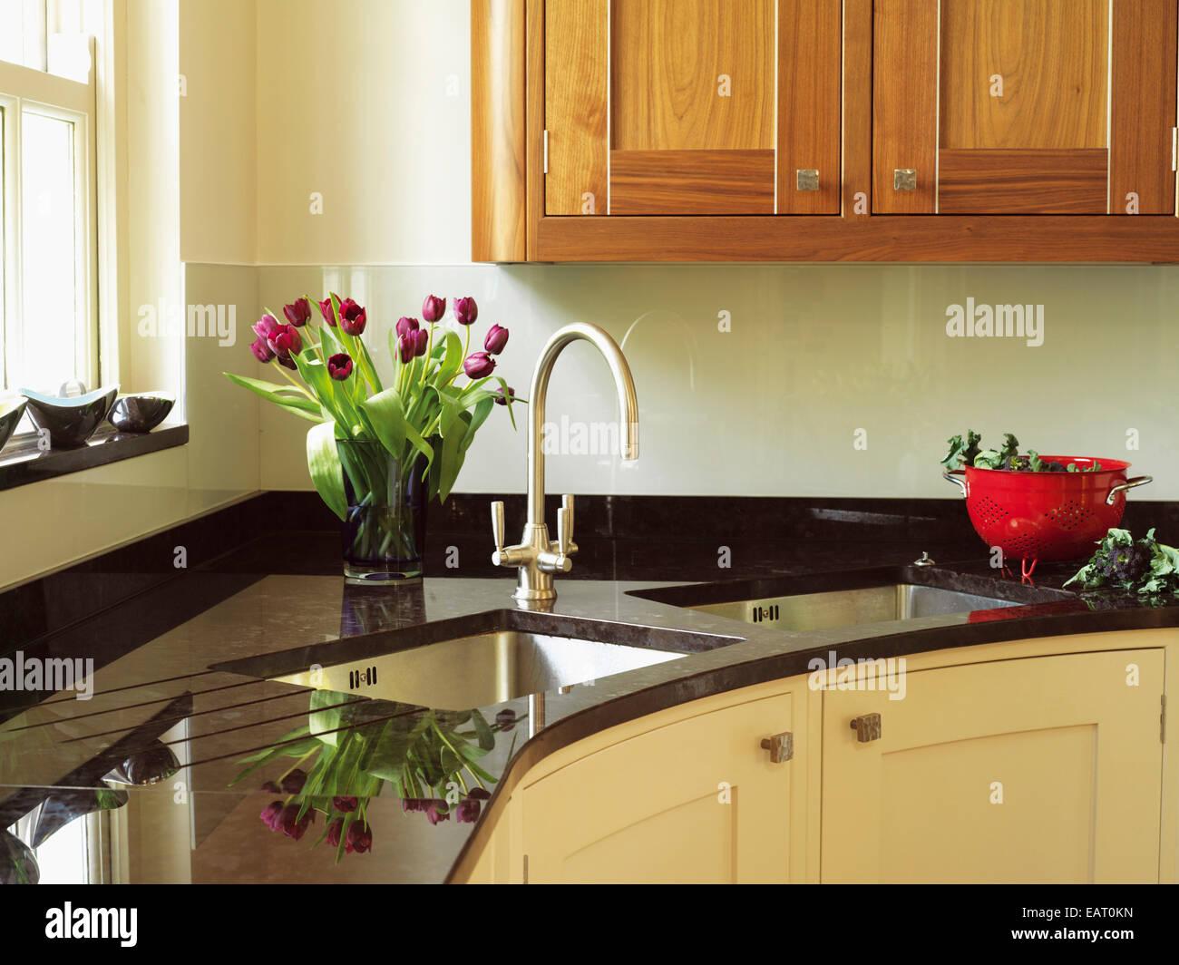 Doppel waschbecken fur kuche for Granit waschbecken kuche