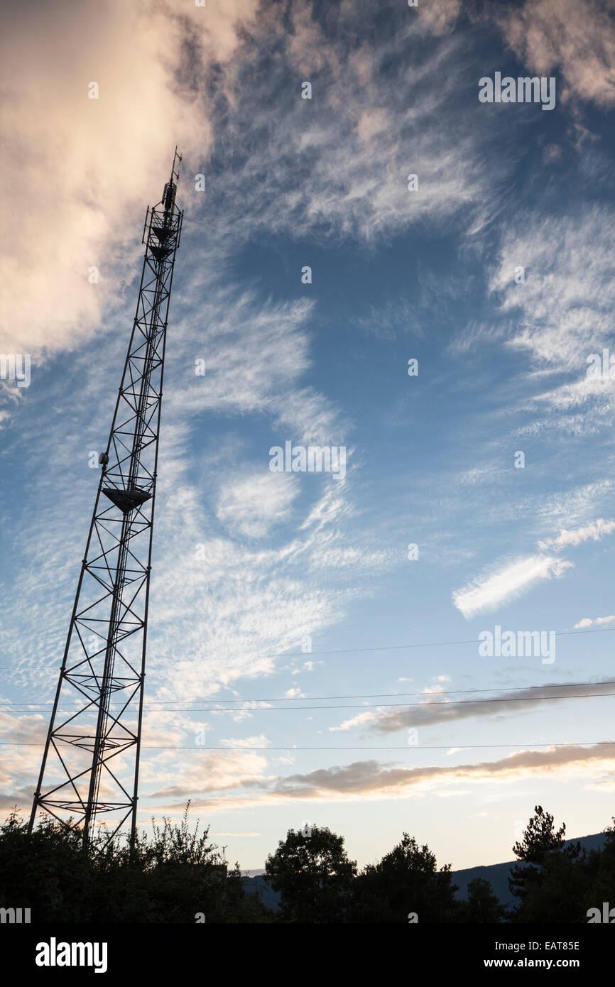 Antennen in Chambéry Savoie, Rhône-Alpes, Frankreich Stockbild
