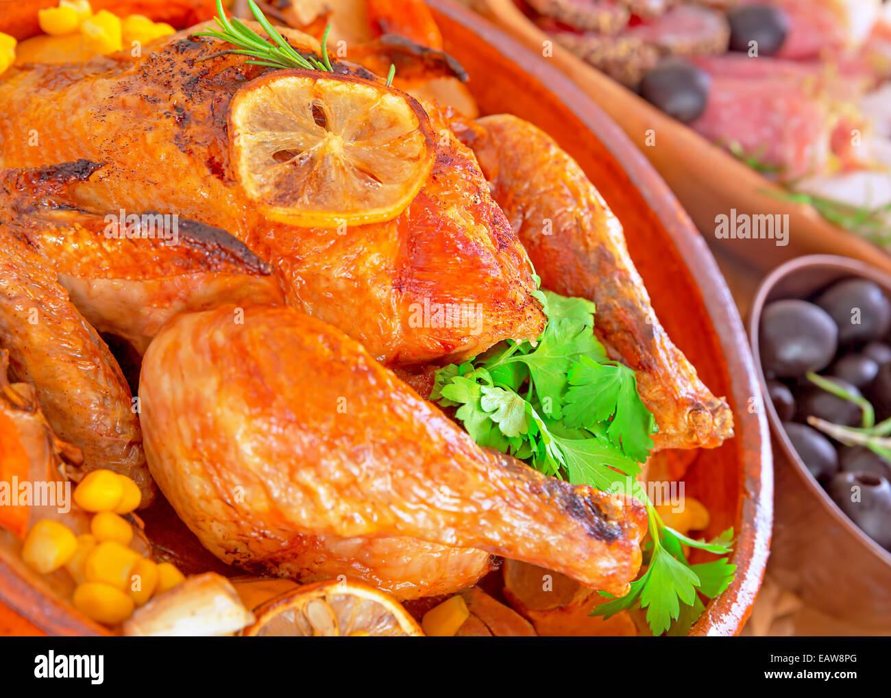 Turkey Roasting In Oven Stockfotos & Turkey Roasting In Oven Bilder ...
