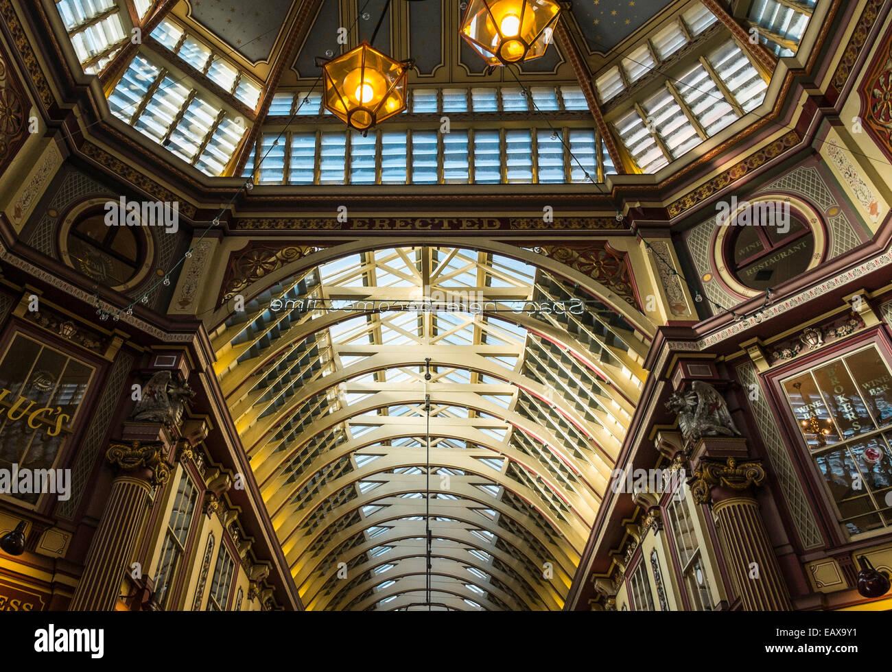 Leadenhall Market in der City of London Stockbild
