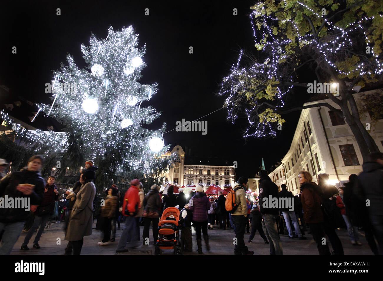 Bratislava, Slowakei. 21. November 2014. Foto aufgenommen am 21 ...