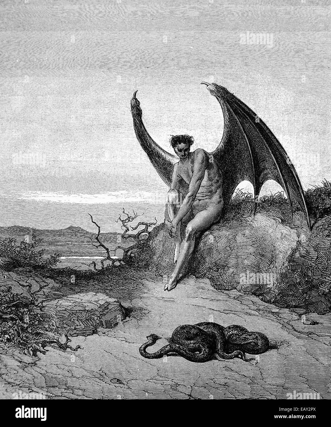 Luzifer, der gefallene Engel von Paradise Lost Stockbild