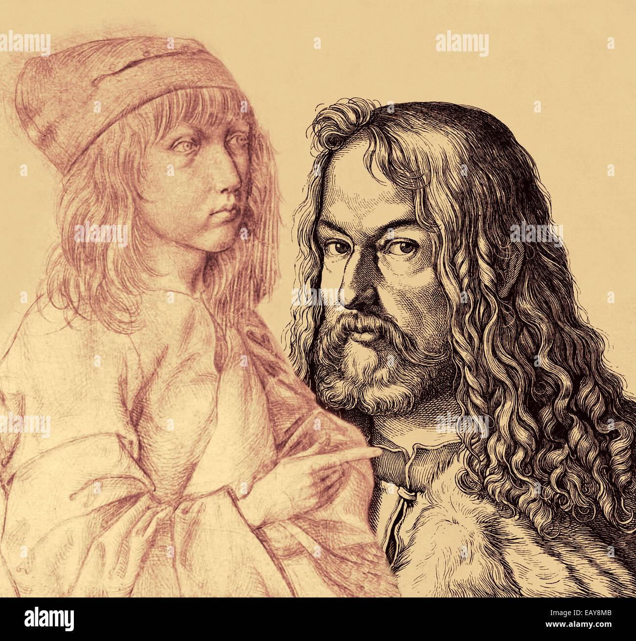 Albrecht Duerer der jüngere, 1471-1528, ein deutscher Maler, Grafiker, Mathematiker und Theoretiker in der Stockbild