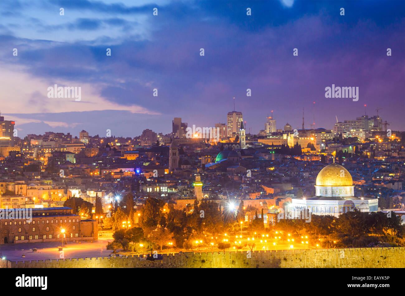 Jerusalem, Israel, alte Stadt Skyline. Stockbild
