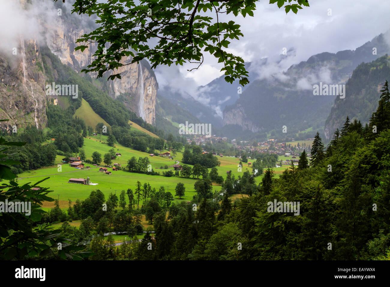Lauterbrunnental, Schweiz Stockbild