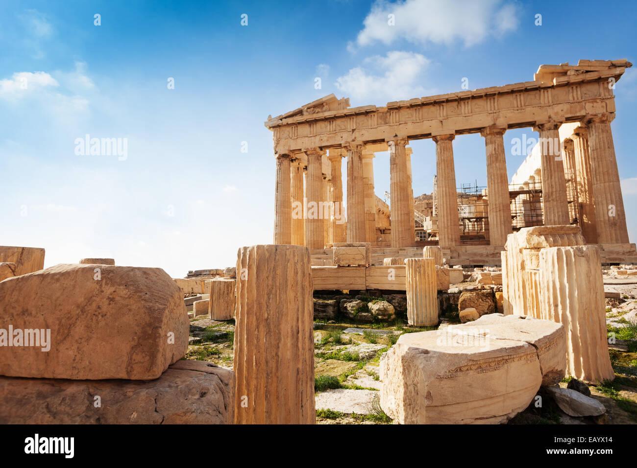 Akropolis von Athen in Griechenland im Sommer Stockbild