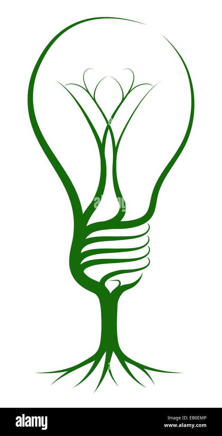 Glühbirne-Baum-Konzept der ein Baum wächst in der Form einer Glühbirne. Könnte ein Konzept für Ideen oder inspiration Stockfoto