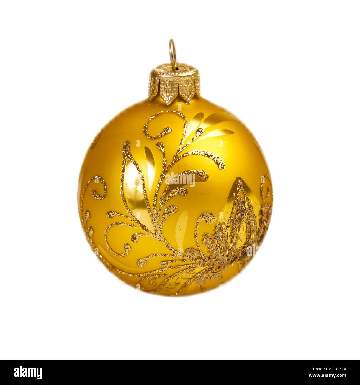 Weihnachtskugel isoliert auf dem Hintergrund Stockbild