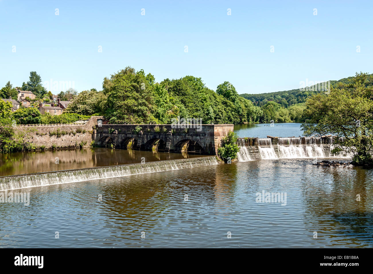 Belper Norden Mühle gehört zu den Derwent Valley Mills, UNESCO-Welterbe-Status im Jahr 2001, England benannt. Stockbild