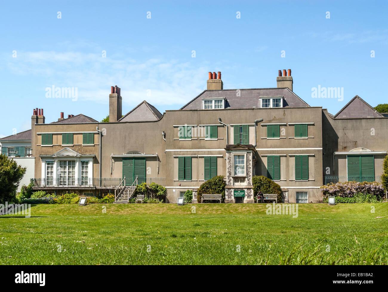 Preston Manor, einem historischen 17. Jahrhundert Herrenhaus in Brighton in East Sussex, Südengland. Stockbild