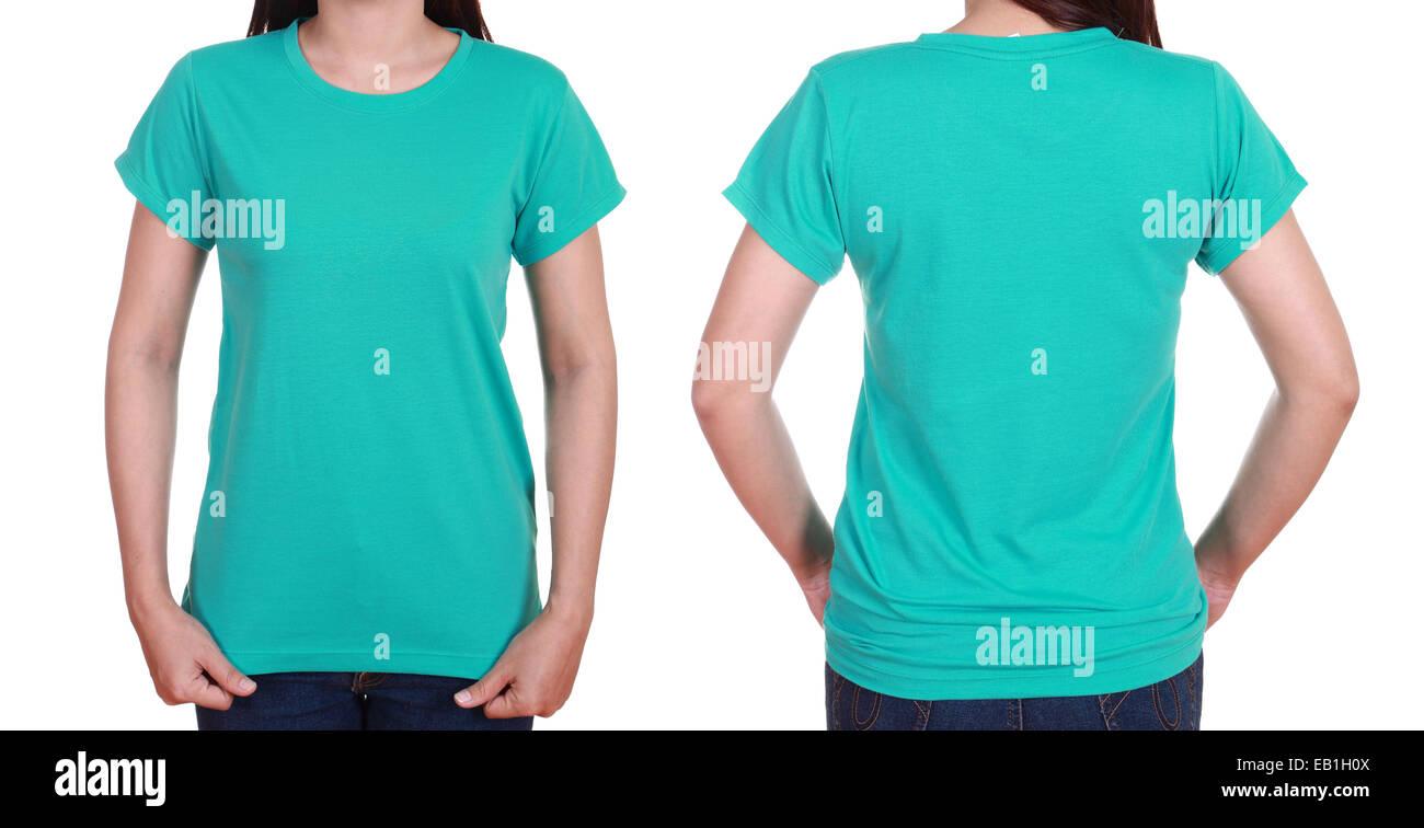 Blank T Shirt Template Front Back Stockfotos Blank T Shirt